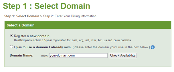 iPage select domain