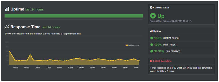 InterServer Uptime for the past 30 days (September 2015): 99.99%